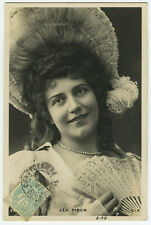 c 1903 French Theater Music Hall PRETTY LEA PIRON Caberet photo postcard