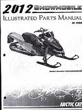 2012 ARCTIC CAT SNOWMOBILE M 1100 PARTS MANUAL P/N 2259-222   (775)