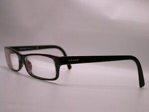 Prada Slim Gloss Black Stripes Eyeglasses Sunglasses Frames Made in Italy