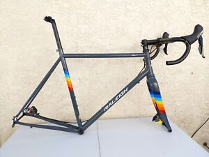 2017 Raleigh RXM 631 Steel Frameset 58cm Cyclocross Gravel RS685 Disc Shifters