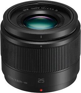 PANASONIC LUMIX G Series 25mm F/1.7 UHR Camera Lens High-Speed + Cap & Pouch NEW