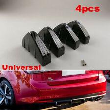 4x Carbon Fiber Style Rear Lower Bumper Diffuser Fin Spoiler Lip Wing Splitter