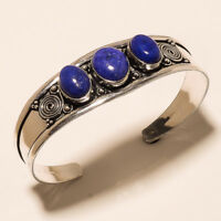 New Cuff Bangel Silver Plated Lapis Lazuli Gemstone Handmade Best Price jewelry