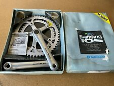 Shimano 105 Crankset 170mm 52/42 Chainring Biopace Vintage Road Bike FC-1050 NOS