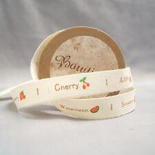 Bowtique algodón natural Frutero Cinta 15mm X 5m Carrete