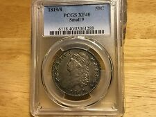 1819/8 PCGS XF40 SMALL 9 Silver Capped Bust Half Dollar Original pretty TONING!!