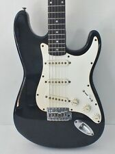 Vintage 1996 Fender Squier Stratocaster Standard VN Electric Guitar Black Maple