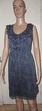 SIZE 10 NAVY BLUE WITH BEIGE POKA DOTS SHORT SHEATH DRESS, MEXX, BNWT, RRP £66