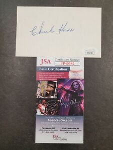 Chuck Knox Signed 3x5 index card JSA Certified Auto! NFL Coach Rams