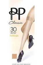 Ladies 1 Pair Pretty Polly 30 Denier 100 Nylon Smooth Semi Sheer Hold UPS One Size Sherry