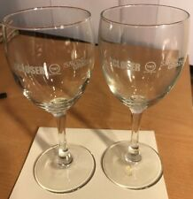 "The Closer, Saving Grace, TNT Show, 2 Clear Glass Stemmed Wine Glasses, 7"",  New"