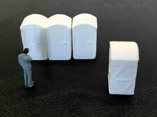 Promotex/Herpa #5500 Resin cast Porta Potty. Four to a set. 1/87th scale.