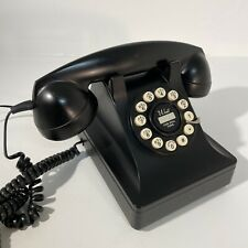 RETRO BLACK OLD STYLE HOME TELEPHONE WAIT FOR DIAL TONE PHONE