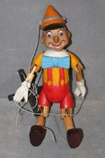 """Vintage Hand Carved Wooden Pinocchio Marionette Puppet 15"""" Disney Collectible"""