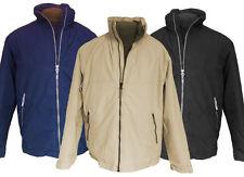Jacke Herren Männer warm Jacket S M L schwarz navy beige Zipper Result Winter