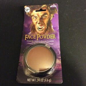 Pressed Face Powder Brown Makeup .34 oz Fun World Halloween Costume Make Up