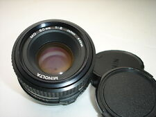 MINOLTA MD 50mm f/2  LENS for SRT , XG , X series 35mm film cameras Sn1582004