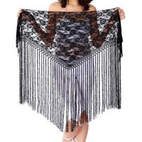 Belly Dance Costume Hip Scarf Carnival Performance Hipscarves Lace Fringes