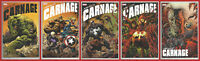 ABSOLUTE CARNAGE #1 2 3 4 5 KYLE HOTZ CONNECTING VARIANT SET Venom 2019 NM- NM