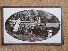 R&L Postcard: In the Country, Farmer, Ladies, Davidson Bros, 1909