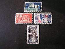 FRANCE, SCOTT # 729+730+731+732(4), 1954 HISTORICAL EVENTS AND FIGURES ISSUE MNH
