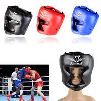 Head Guard Helmet Face Protector Kick Boxing MMA Martial Art Gear Training
