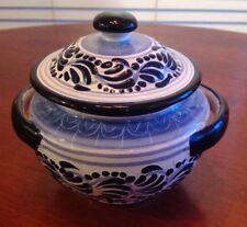 Talavera Pottery Lidded Pot Jar Signed El Pincel Great Condition NWT MSP $289