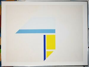 Listed Russian American Artist ILYA BOLOTOWSKY, Large Original Signed Serigraph