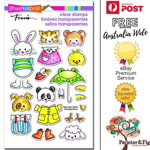 Spring Animal Stamps - Cat, Dog, Mouse, Rabbit, Panda. Sheep with Clothes