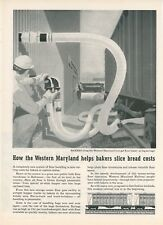 1959 Western Maryland Railway Ad Flour Hopper Cars Baltimore Bulk Warehouse MD