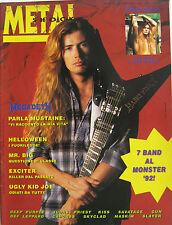 METALSHOCK 122 1992 Megadeth Sebastian Bach Mr Big Exciter Helloween Deep Purple