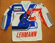 ZSC Lions, Vintage Adidas Hockey Jersey Switzerland, Adult Large