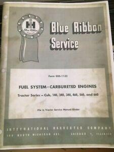 IH Farmall International Blue Ribbon Service Fuel System CUB 140 240 340 460 560
