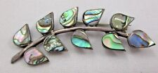 Leaves Abalone Shell 925 Mexico Taxco Sterling Silver Brooch Leaf