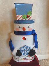 Three Tiered Box 20 Inch tall Snowman (#3083)