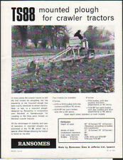 """Ransomes """"TS88"""" Mounted Plough for Crawler Tractors Brochure Leaflet"""
