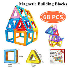 Kids Toddler Fidget Toys Magnetic Building Blocks Set Gifts For Boys Girls 68pcs