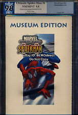 PGX 9.8 Ultimate Spider-Man #1 French Museum Issue White! Movie! Amazing