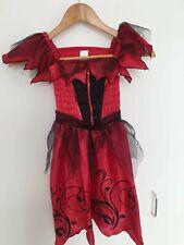Girls Vampire Halloween Fancy Dress Age 7-8 Years, Girls Halloween Costume Red