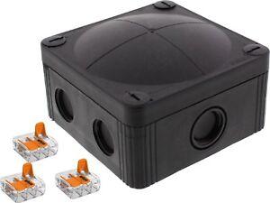Wiska  Combi® 407/WW/3221/B Weatherproof Junction Box + Wago connectors