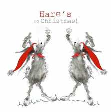 Fun Hare Christmas Card | Christmas Cheer | Premium Christmas Card | UK Made