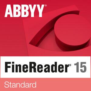 ABBYY FineReader 15 Standard Download 1 PC DE EU