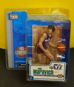 Pete Maravich McFarlane NBA Legends Hardwood Classics Figure New Orleans Jazz