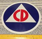 Внешний вид -  CIVIL DEFENSE STICKER S DECAL COLD WAR 2 TWO  6 INCH Decal Stickers