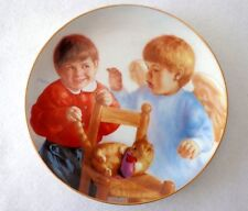 "HEAVENLY ANGELS COLLECTOR PLATE ""CAUGHT IN THE ACT"" BY ARTAFFECTS-ARTIST MaGo"