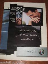 *AP27= ALFA ROMEO GTV =PUBBLICITA'=ADVERTISING=WERBUNG=COUPURE=