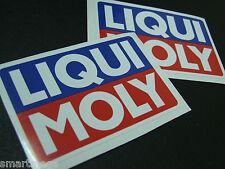 LIQUI MOLY Set of 6 PVC Rally Race Stickers ,  60 mm x 90 mm
