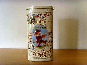Used- Box Decorative Metal of Chocolates Gianduia from Torino - Used