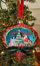 Jim Shore 3D SANTA Christmas Ornament (Heartwood Creek by Enesco, 4029513) Glass