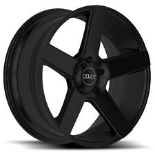 4 BRAND NEW DOLCE DC38 22X9.5 6X135 +30 MATTE BLACK DUB BALLER STYLE FORD F150